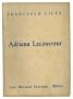 Adriana Lecouvreur Libretto Opera