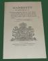 Manifesto Camerale 1817 allume di feccia