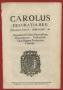 Carolus Dei Gratia Rex Editto Baronaggio