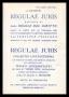 Regulae Juris Raccolta di 2000 Regole del diritto