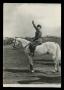 Benito Mussolini a cavallo Cartolina
